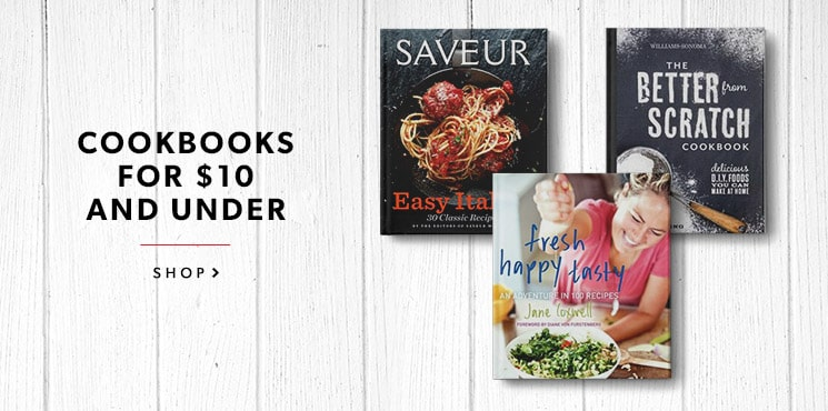 Cookbooks $10 and Under
