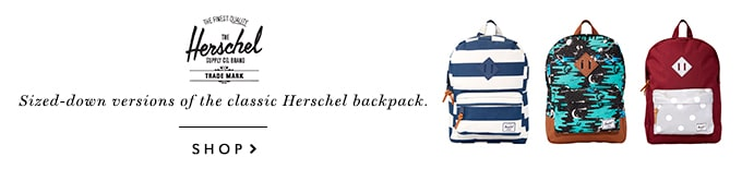 Herschel Supply Co. | Kids' Collection | Sized-down versions of the classic Herschel backpack