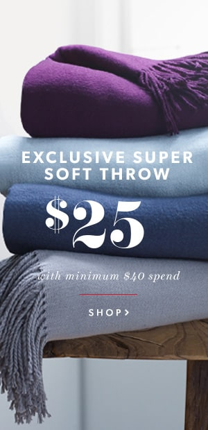 Super Soft Throw- Only $25 when you spend $40