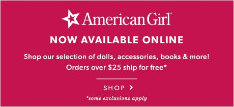 American Girl - Now Available Online!