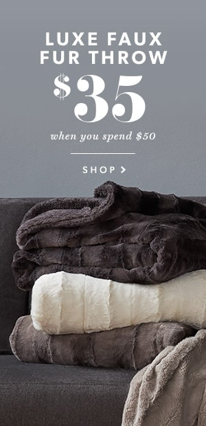 Luxe Faux Fur Throw - $35 When You Spend $50