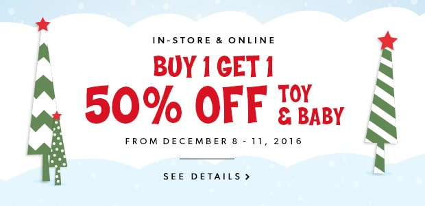 Buy One, Get One 50% Off On Toy & Baby