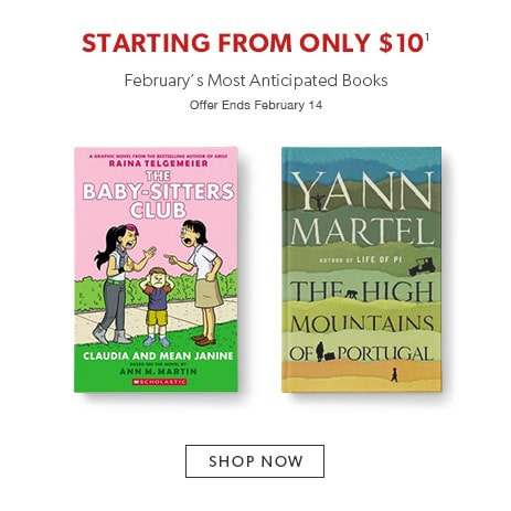 February's most anticipated books starting from only $10. Offer ends February 14.