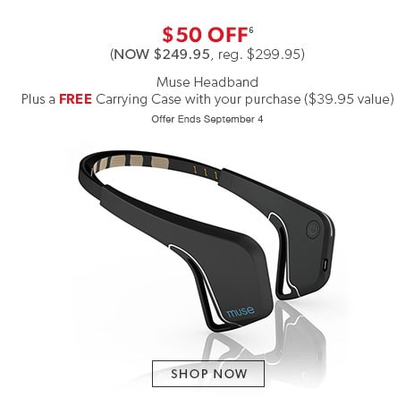 Shop Muse headbands now - offer ends September 4, 2016.