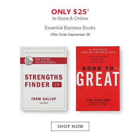 Shop business books now - Offer ends September 26, 2016.