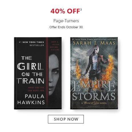 shop page-turners now. Offer ends October 30, 2016