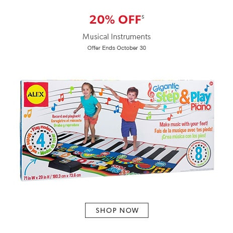 shop musical instruments now. offer ends October 30, 2016