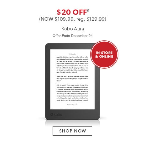 shop Kobo Aura now. Offer ends December 24, 2016