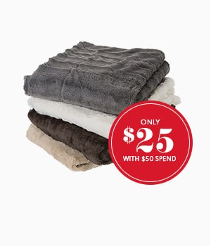 Luxe faux fur throws only $25 with $50 spend