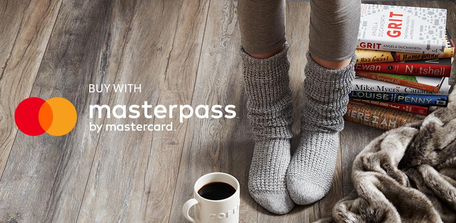 MasterPassTM by MasterCard. MasterPass is a simple, convenient, trusted digital wallet for faster safe shopping on indigo.ca, using any VISA, MasterCard, American Express, debit or reloadable prepaid cards.