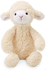 Perched Little Lamby with Rattle