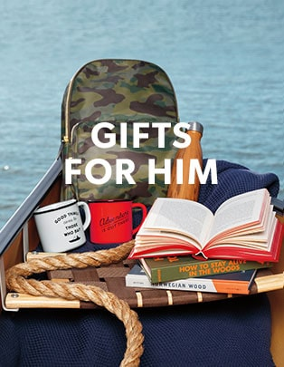 Gifts for Him (Such as backpacks, mugs, books, etc.