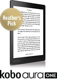 Kobo Aura One - a Heather's Pick