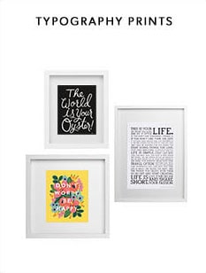 Shop our Typography Print collection