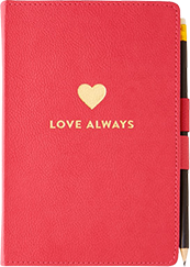 Pen Loop Journal - Love Always, Bright Pink