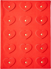 Studded Heart Appliqué Journal - Red