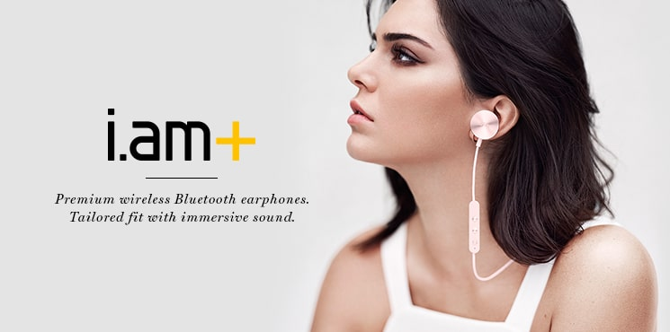 Premium wireless Bluetooth earphones. Tailored fit with immersive sound.