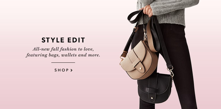 All-new fall fashion to love, featuring bags, wallets and more.