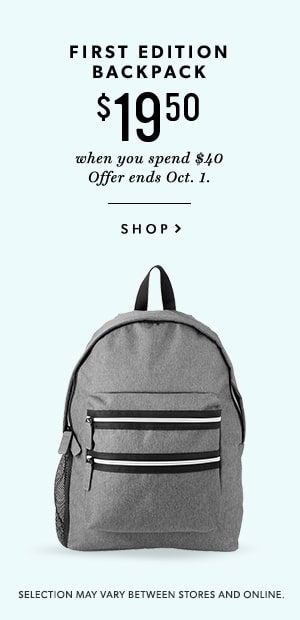 $19.50 Backpack When You Spend $40 In-Store Or Online