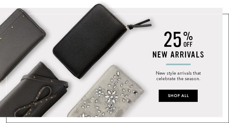 25% off New Fashion Arrivals