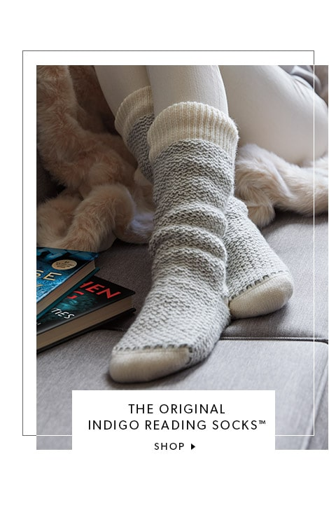 The Original Indigo Reading Sock