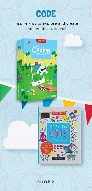 shop coding toys and coding books, PLUS a wide variety of brain games and more