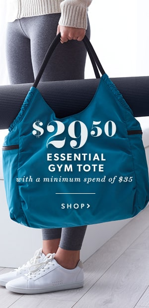 Essential Gym Tote For $29.50 When You Spend $35