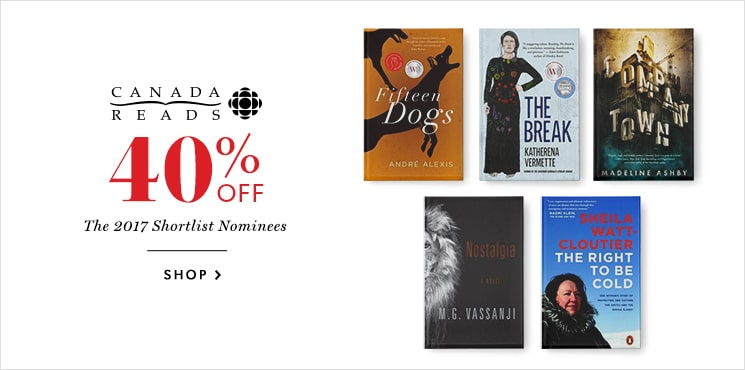 40% off CBC's Canada Reads finalists