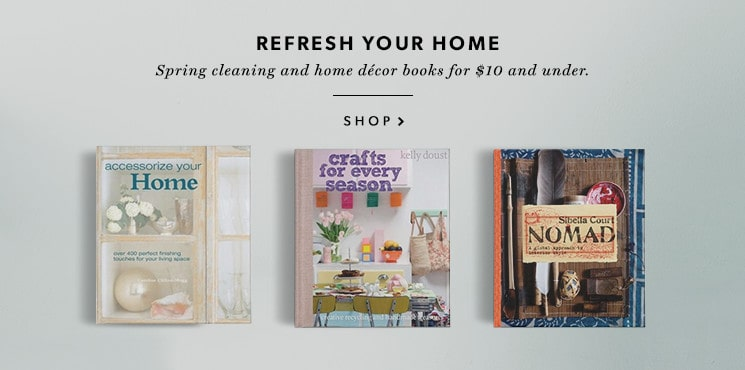 Interior decorating and home books for $10 and Under