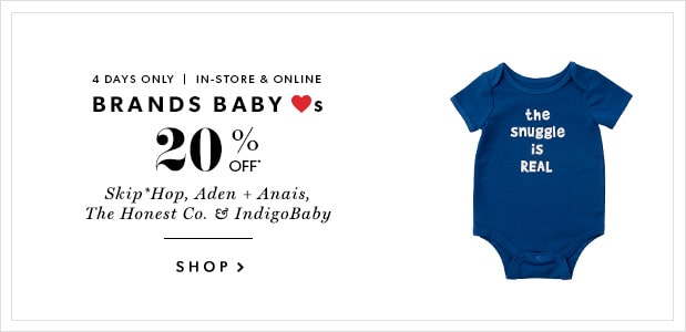 20% Off Brands Baby Loves
