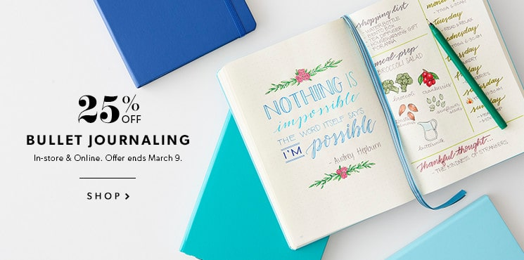 25% Off Bullet Journaling