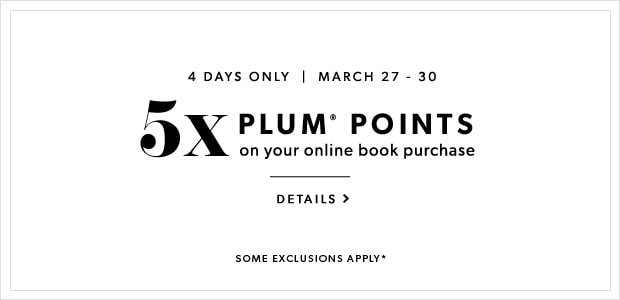 March 27 - 30. 5x Plum Points on Books Online