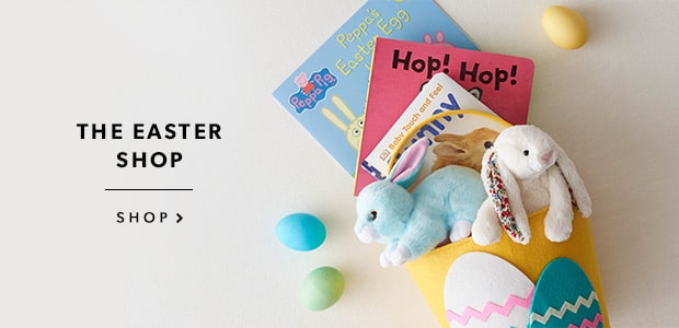Adorable kids' books, treat-worthy baskets, snuggly plush companions & more.