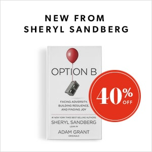 New from Sheryl Sandberg