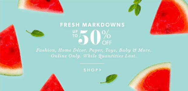 Fresh Markdowns Up To 50% Off