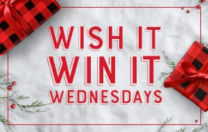 Create your wish list and you could win up to $500!