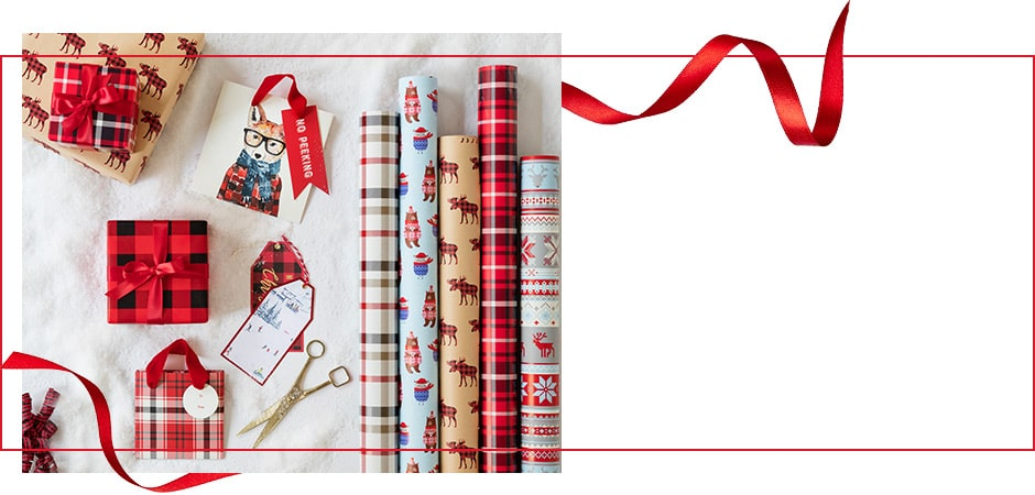 shop Holiday 2017 gift wrap and boxed cards now