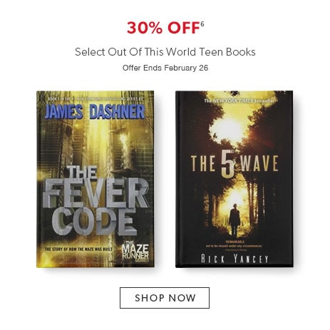 shop teen books now - offer ends February 26, 2017