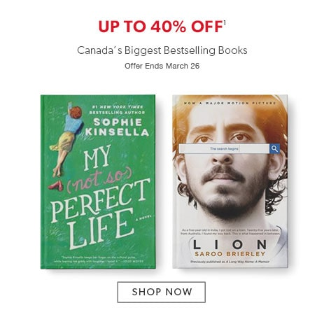 shop bestselling books now. Offer ends March 26, 2017.