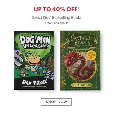shop books for kids now. Offer ends April 2, 2017.