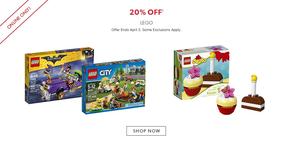 shop LEGO now - offer ends April 2, 2017.