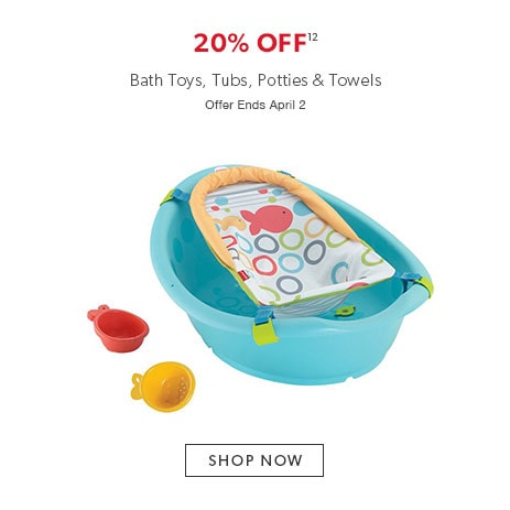 shop bath toyes now. Offer ends April 2, 2017.