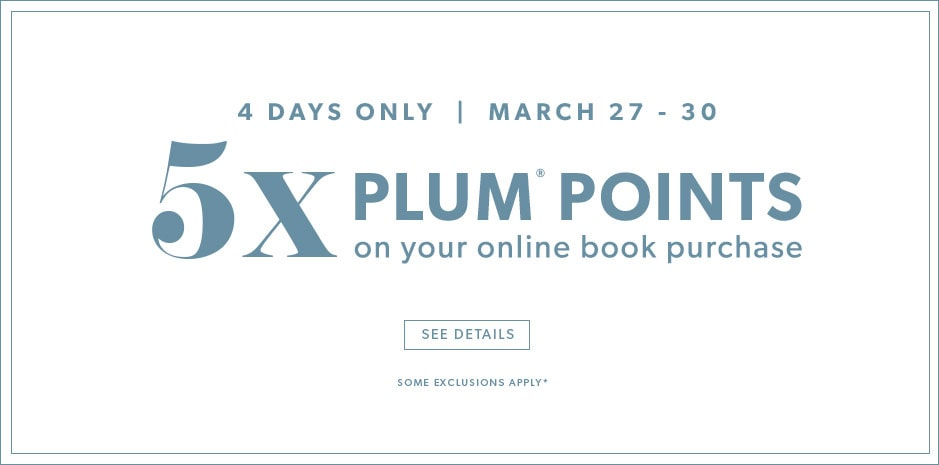 5x plum points on your online book purchase - some exclusions apply