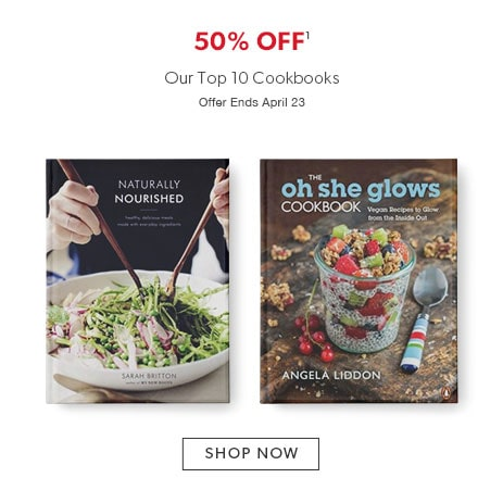 50% off our top ten cookbooks