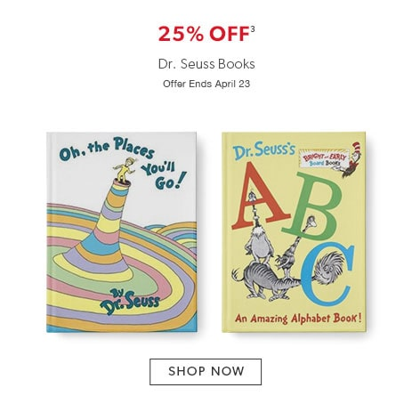 25% off books by Dr. Suess