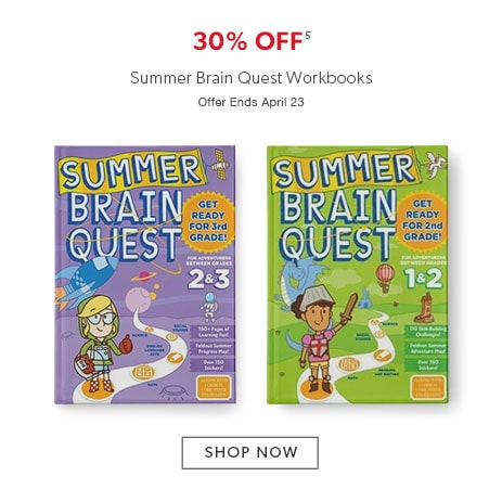 30% off Summer Brain Quest Workbooks