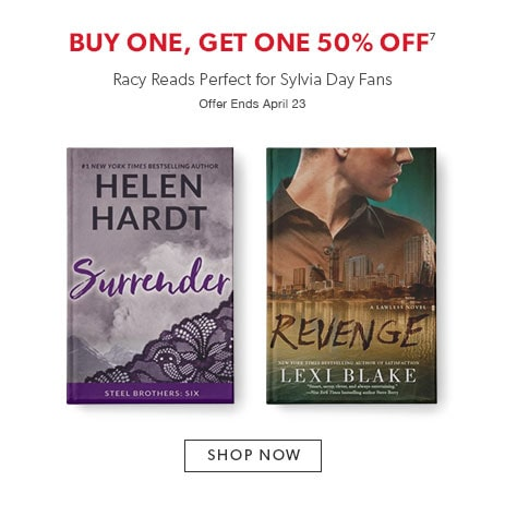 racy reads perfect for Sylvia Day fans - buy one, get one 50% off