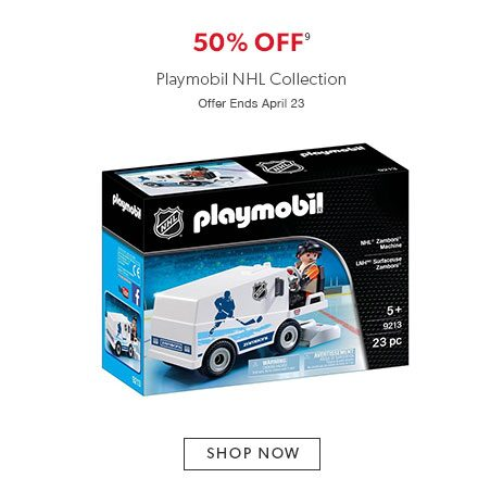50% off Playmobil NHL Collection