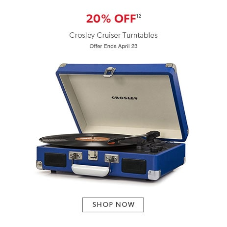 20% off Crosley Cruiser turntables