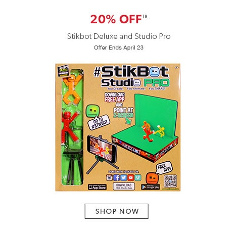 20% off StikBot Deluxe and Studio Pro